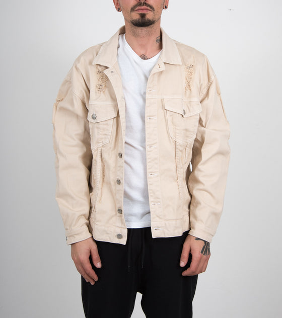 Beige Distressed Jacket