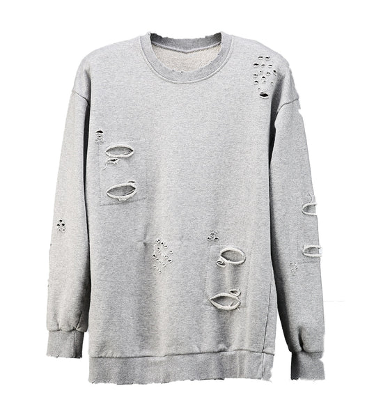 Knife Cut Sweatshirt Grey