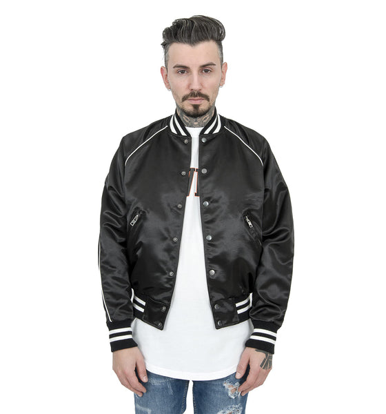 BLACK TRACK BASEBALL JACKET