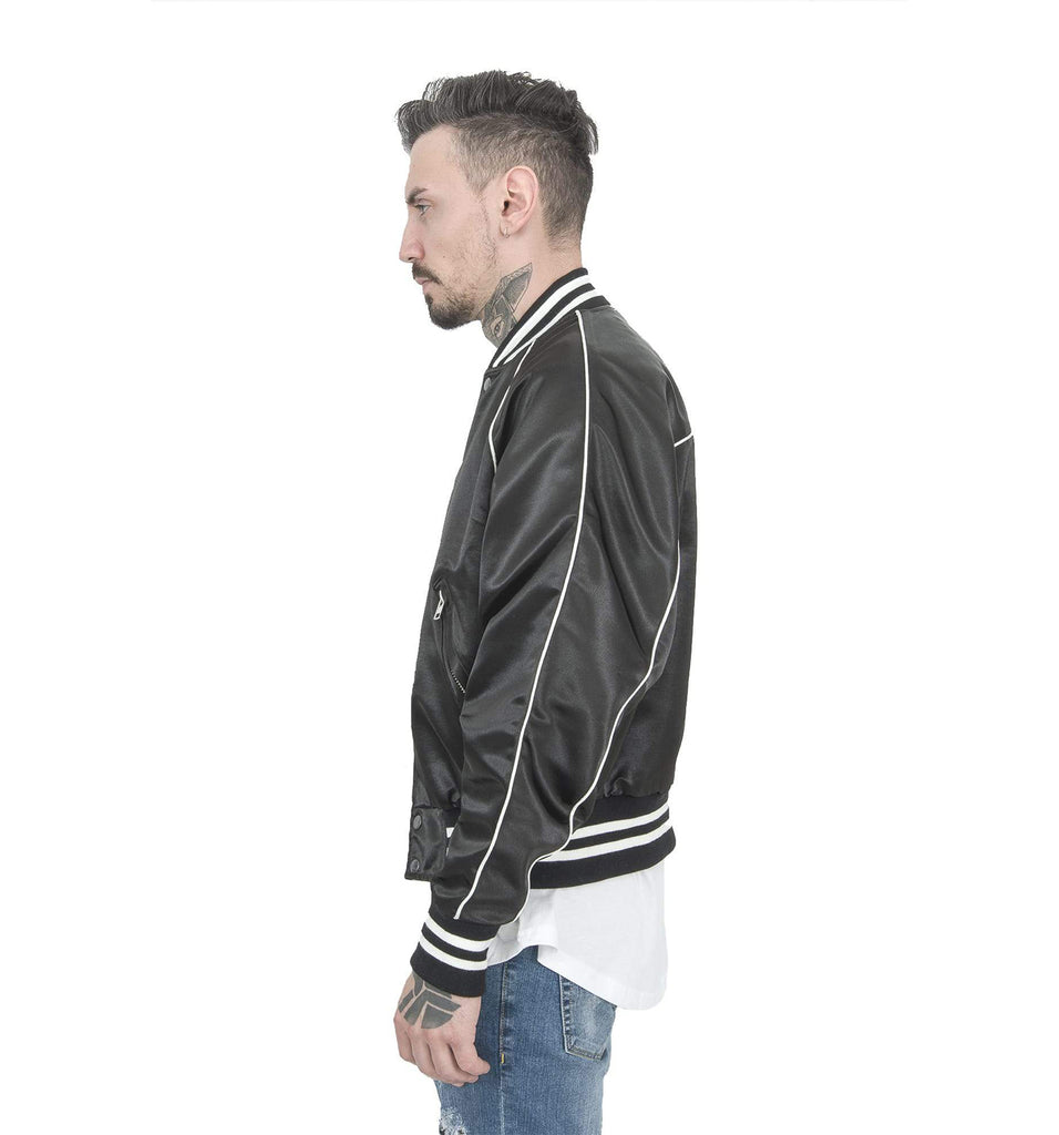 BLACK TRACK BASEBALL JACKET SAMPLE