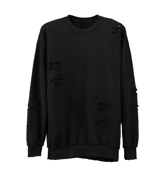Knife Cut Sweatshirt Black
