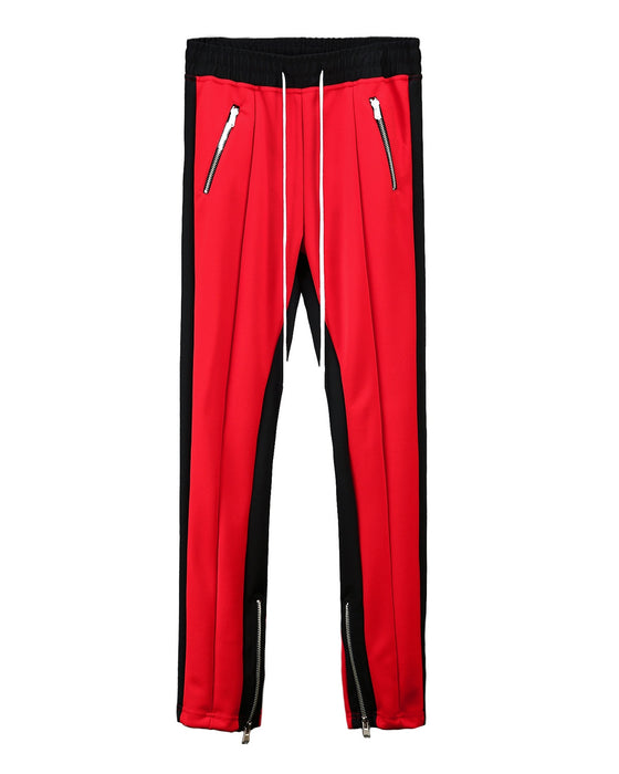 RED Inside Zipper Line Pants