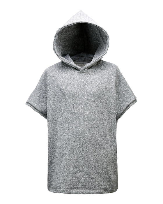 Grey Incision Line Sleeveless Hoodie