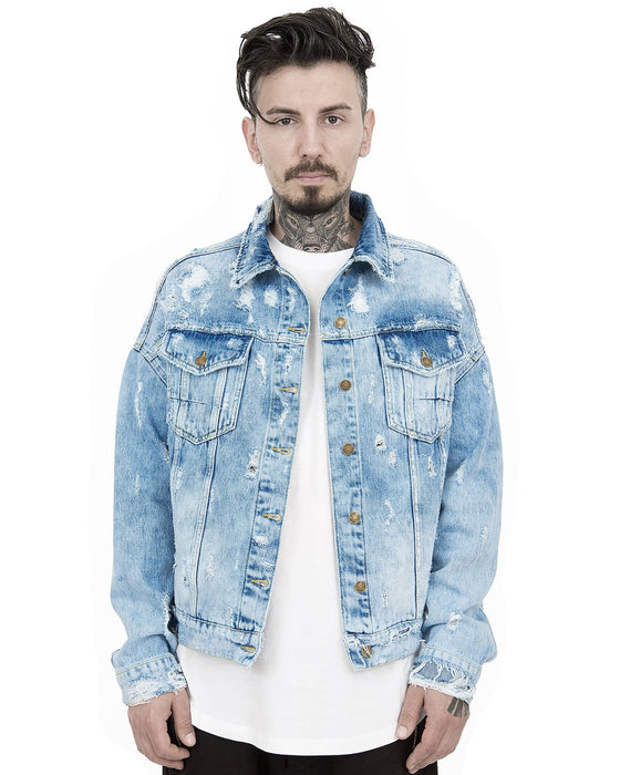 ICED DISTRESSED TRUCKER JACKET