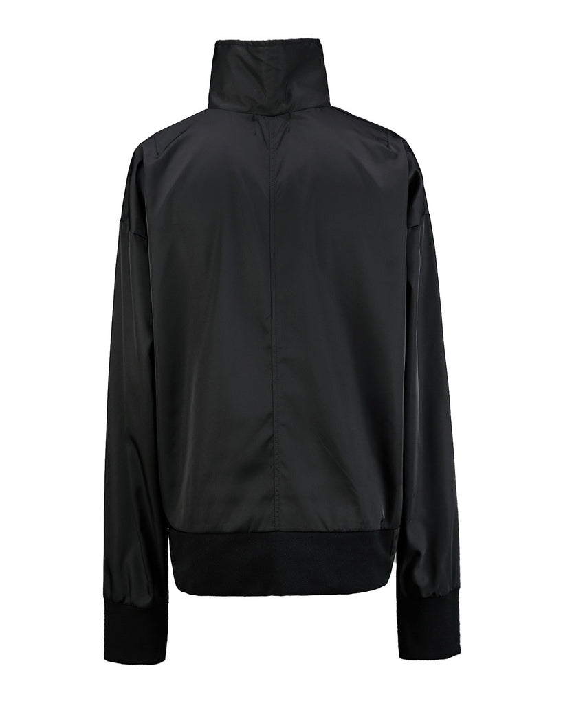 BLACK Mono Side Zipper Anorak
