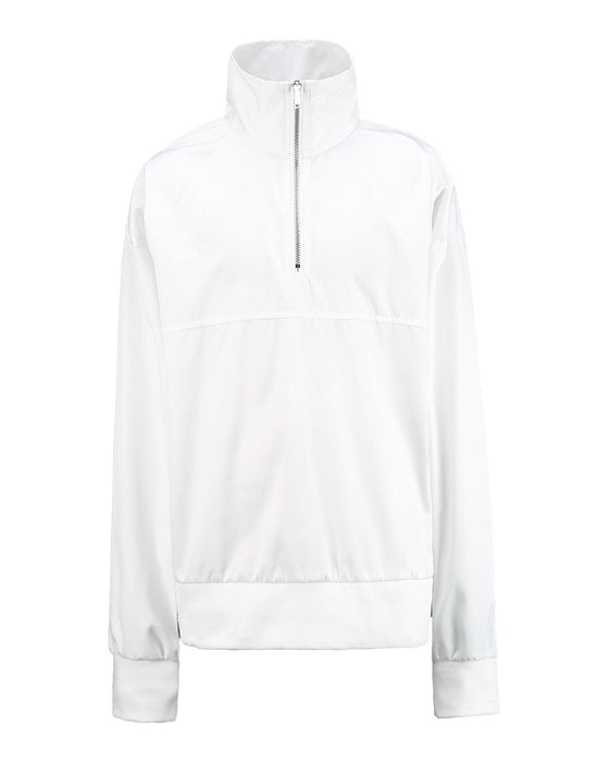 WHITE Mono Side Zipper Anorak