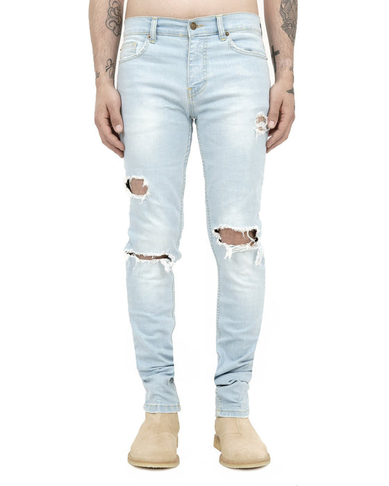 BLEACH BLUE DISTRESSED JEANS SALE