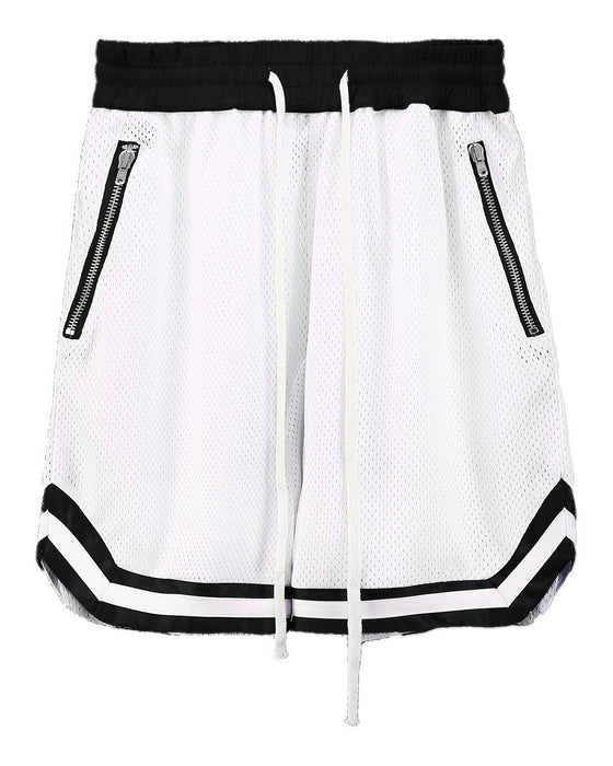 Mesh Banding Shorts WHITE