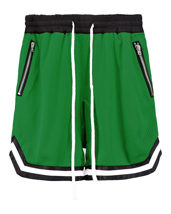 Mesh Banding Shorts GREEN