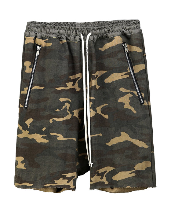 Camouflage Drop Shorts