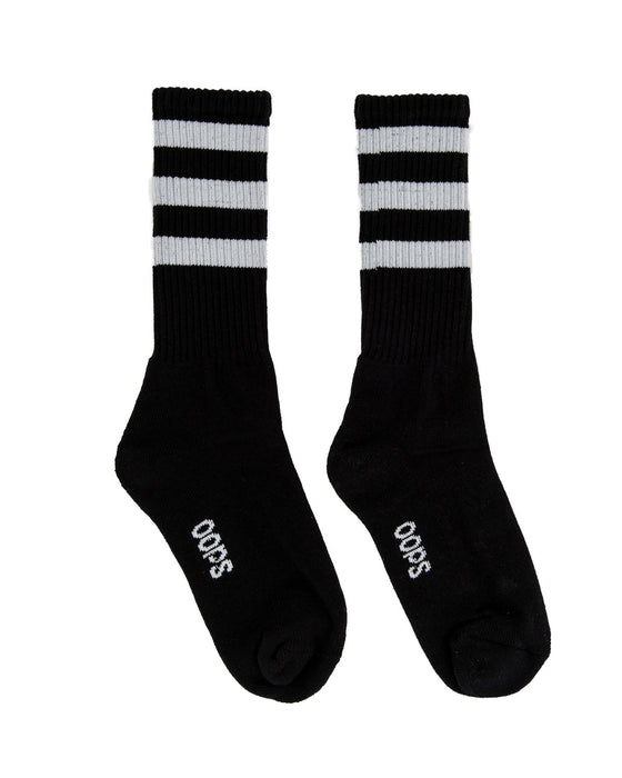 Triple Line Socks BLACK