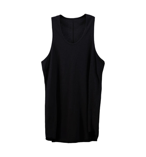 Monotone Layered Tank Top Schwarz