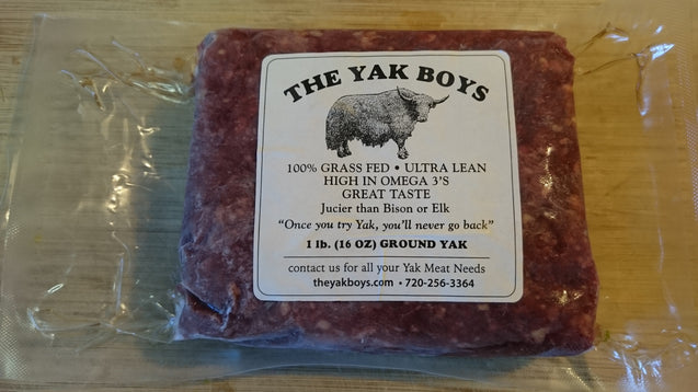 100% Grass Fed Ground Yak, 1 lb.