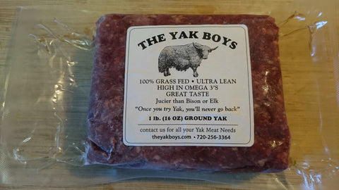 20 lb. of our 100% Grass Fed Ground Yak, Exotic Meat for Sale