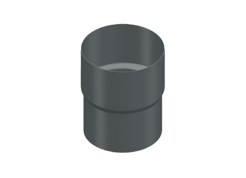 87mm Dark Grey Prelaq Steel Downpipe Connector