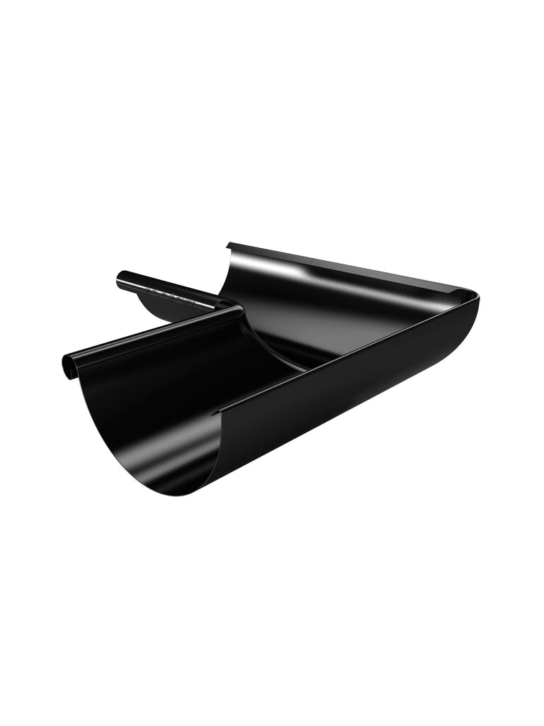 125mm black steel gutter internal corner