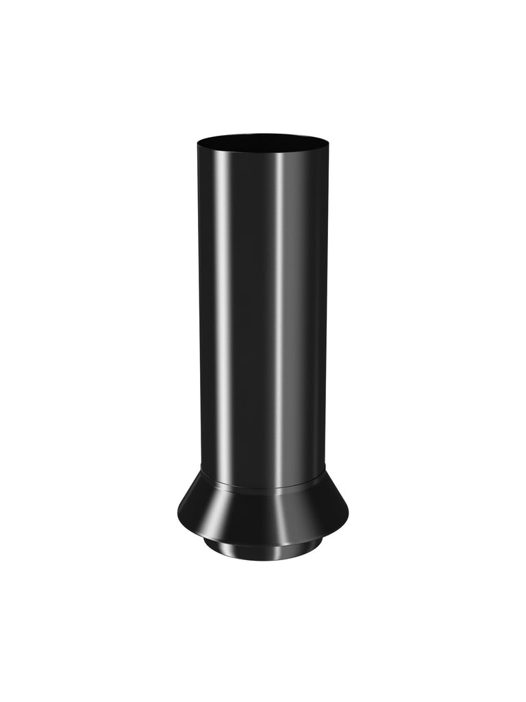 Black steel downpipe drainage connector 87mm