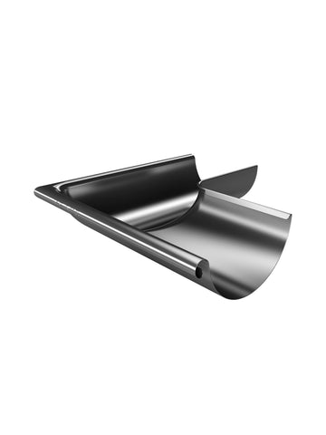 125mm Plain Galvanised 135dgree External Gutter Corner