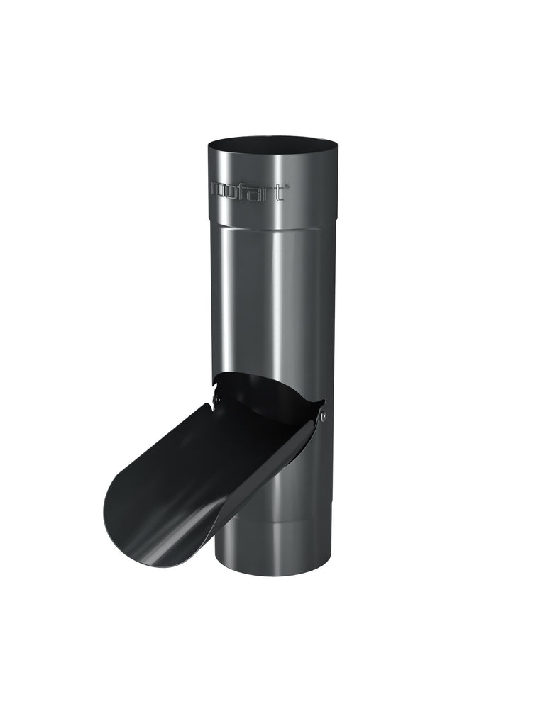 87mm Dark Grey Steel Rainwater Diverter