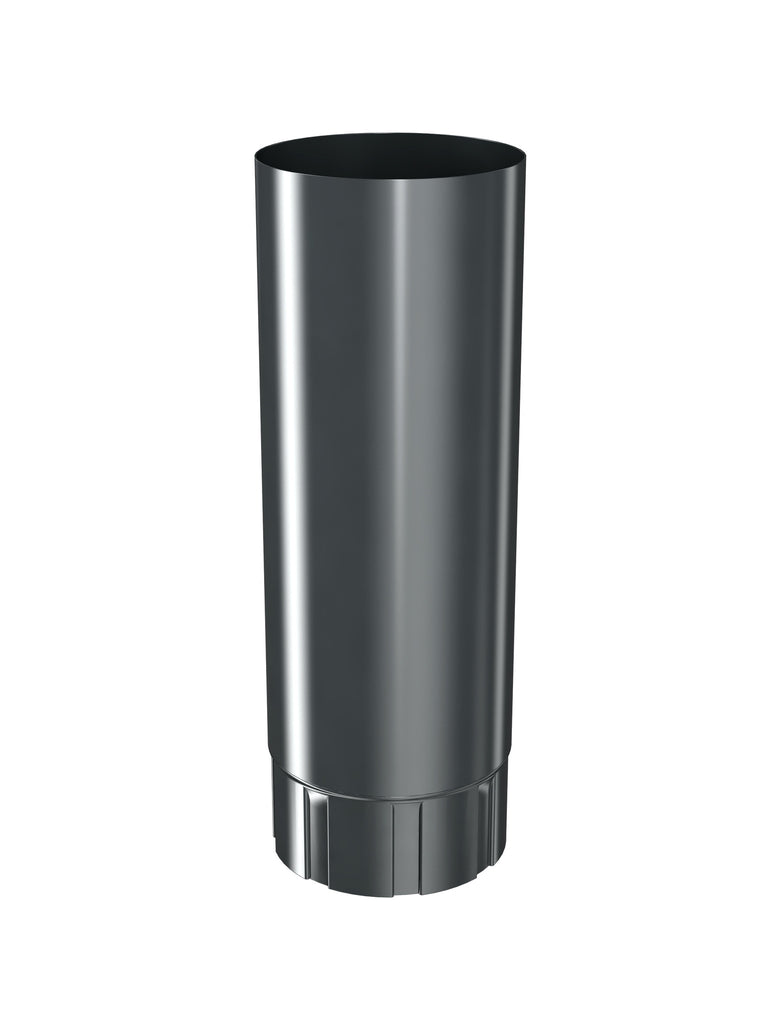 1m Dark Grey steel downpipe