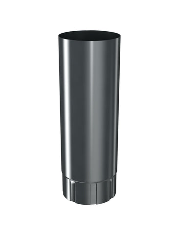 1m Long, 87mm Dark Grey Prelaq Steel Intermediate Downpipe