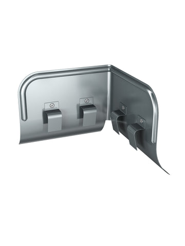 125mm Dark Grey Prelaq Steel Corner Overflow Protector