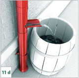 Manual Rainwater Diverter open