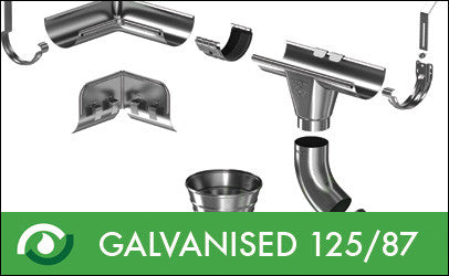 Roofart Galvanised Gutters & Downpipes 125/87