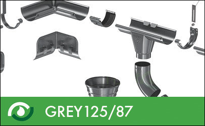 Roofart Grey Prelaq Gutters & Downpipes 125/87