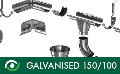 Roofart Galvanised Gutters & Downpipes 150/100