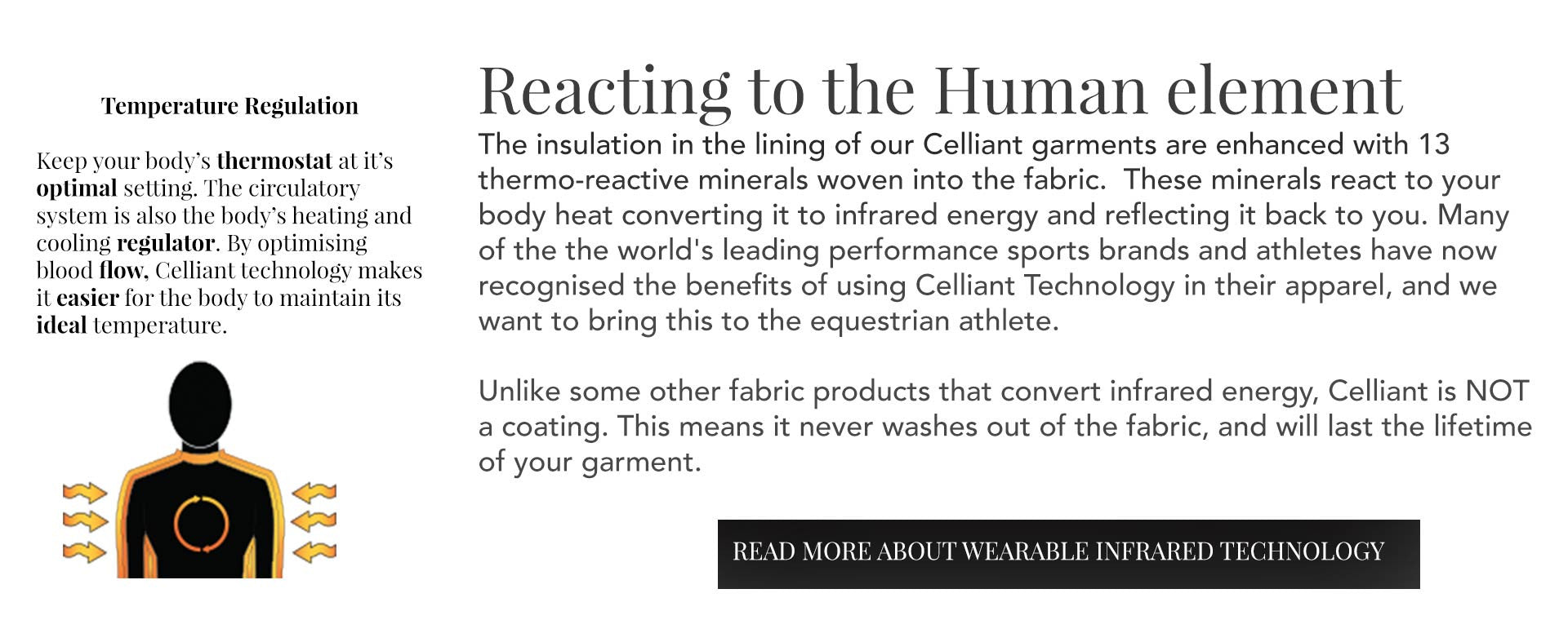 Celliant regulates your temperature | Wearable technology for equestrians