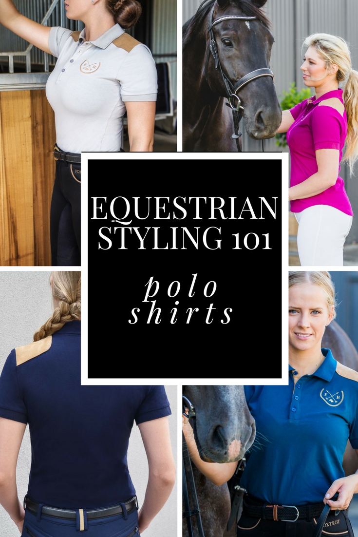 equestrian style polo shirts Foxtrot Horsewear