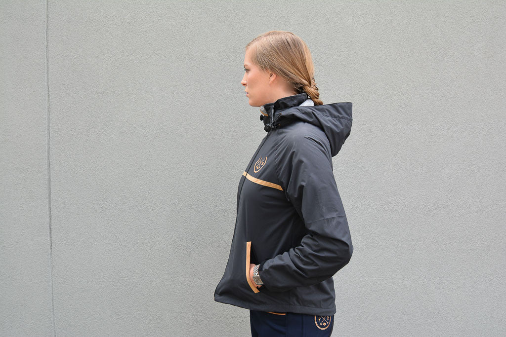 Auburn Riding Jacket | Dark Grey/Black - Equestrian Fashion | Foxtrot Horsewear