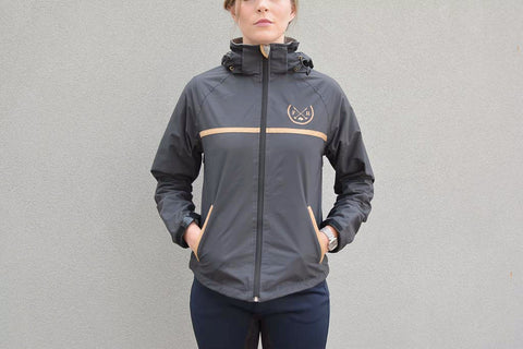 Auburn Riding Jacket | Dark Grey/Black