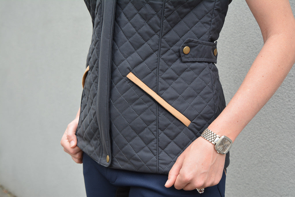 Womens Equestrian quilted vest | Riding Clothes | Foxtrot Horsewear