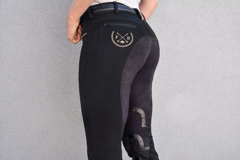 Harper Full Seat Lux-Grip Riding Breeches | Black (OUT OF STOCK - SORRY)