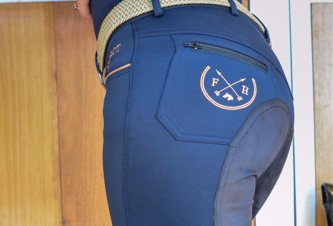 Harper Full Seat Lux-Grip Riding Breeches | Navy (SOLD OUT) - Equestrian Fashion | Foxtrot Horsewear