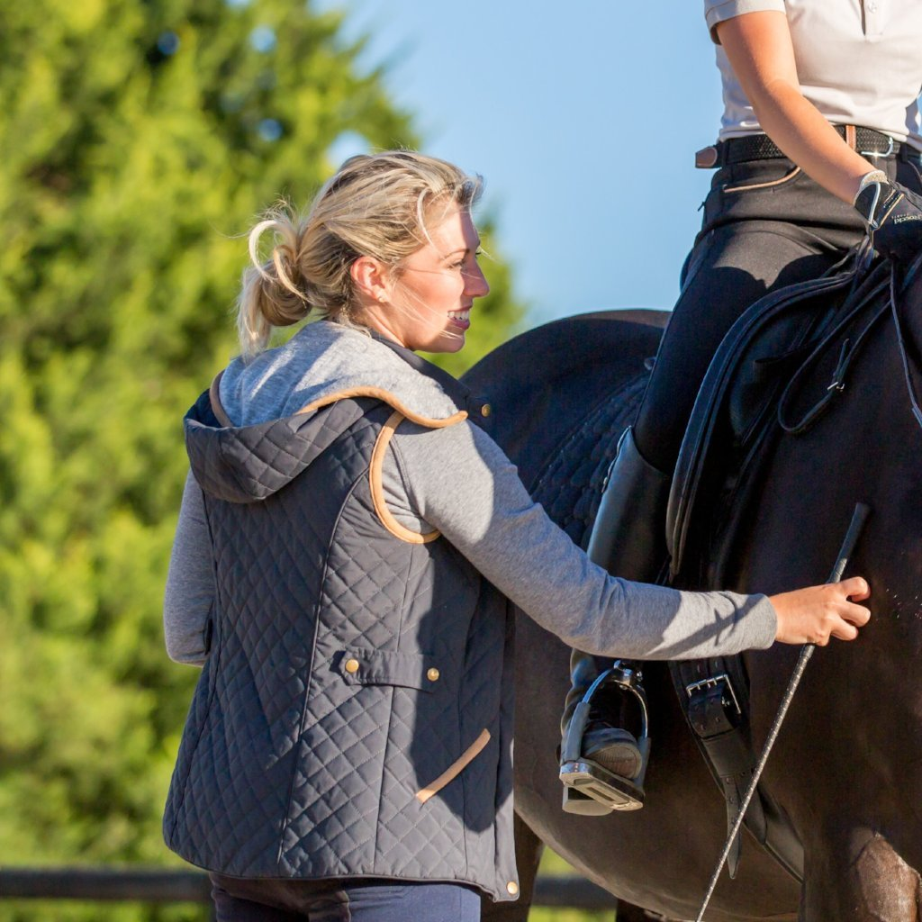 Collins Quilted Riding Vest | Dark Grey/Black - Equestrian Fashion | Foxtrot Horsewear