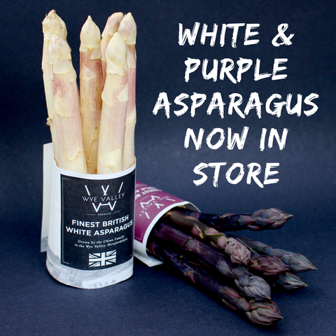 Finest British White and Purple Asparagus
