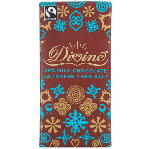 Divine Milk Chocolate with Toffee & Sea Salt 90g