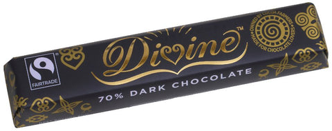 Divine Fairtrade 70% Dark Chocolate 40g