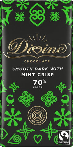 Divine 70% Dark Chocolate with Mint 90g