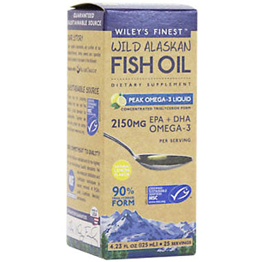 Wiley's Finest Wild Alaskan Fish Oil: Peak EPA (EPA + DHA Omega -3) 125ml