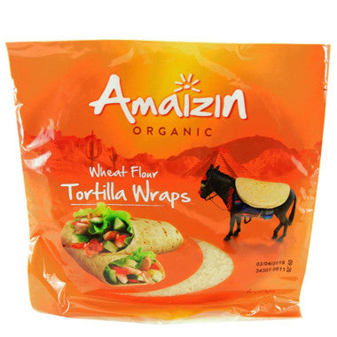 Amaizin Organic Wheat Flour Tortilla Wraps - Roots Fruits & Flowers Glasgow