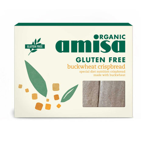 Amisa Organic Gluten Free Buckwheat Crispbread - Roots Fruits & Flowers Glasgow
