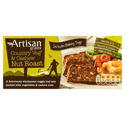 Artisan Grains Country Veg & Cashew Nut Roast - Roots Fruits & Flowers Glasgow