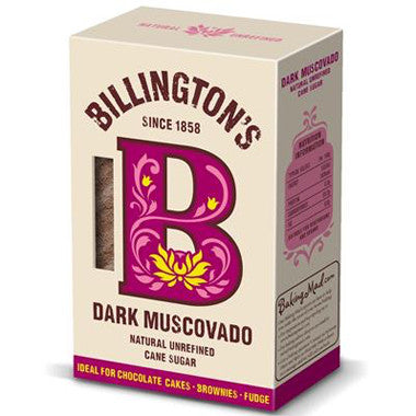 Billington's Dark Muscovado Sugar 500g - Roots Fruits & Flowers Glasgow