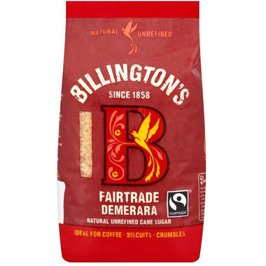 Billington's Fairtrade Demerara Sugar 500g - Roots Fruits & Flowers Glasgow