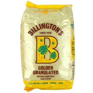 Billington's Golden Granulated Sugar 1kg - Roots Fruits & Flowers Glasgow