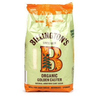 Billington's Organic Golden Caster Sugar 500g - Roots Fruits & Flowers Glasgow